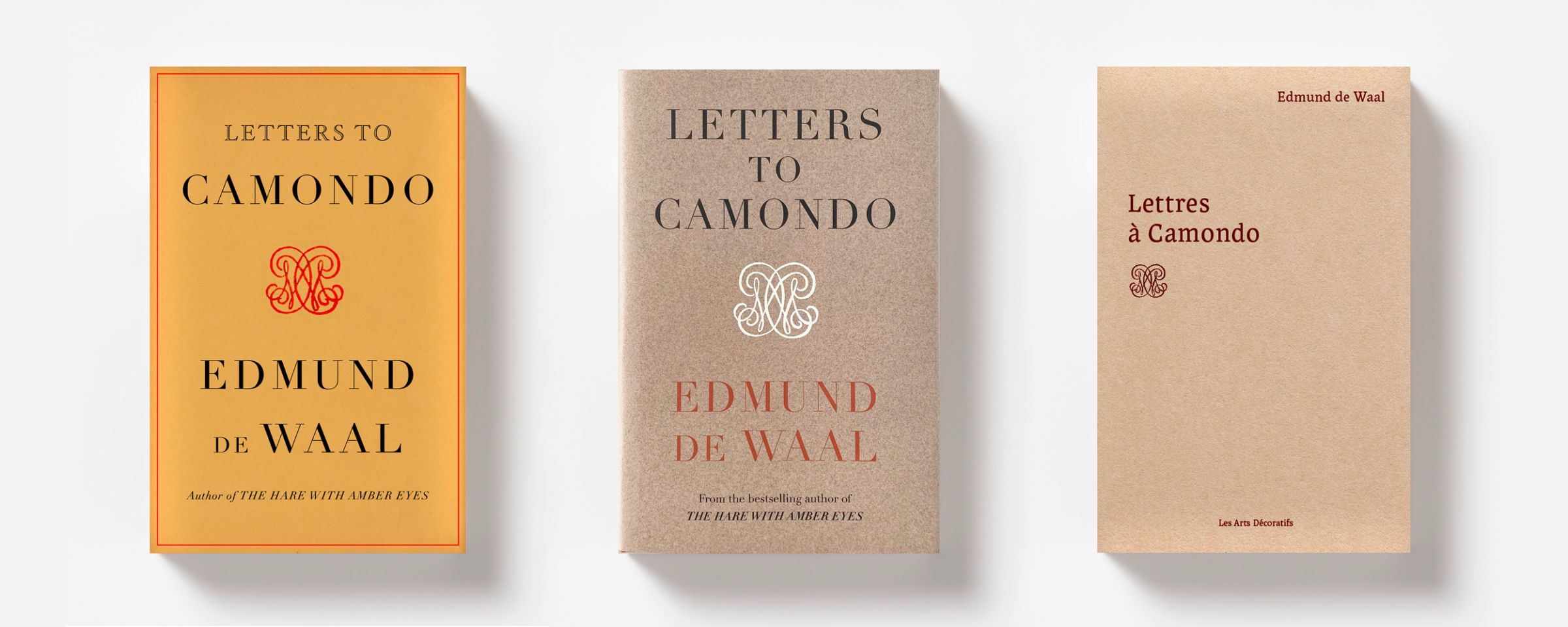 Edmund de Waal letters to Camondo editions