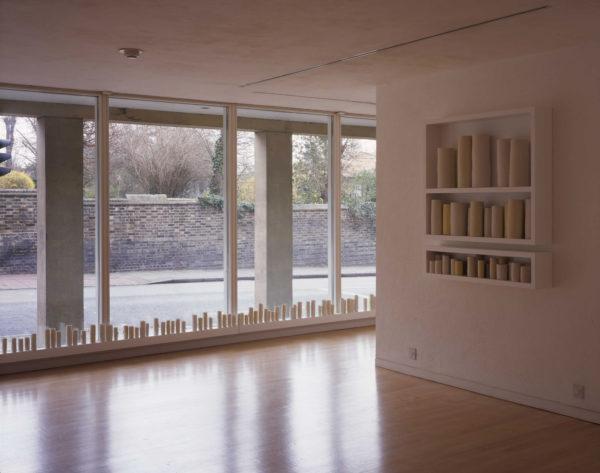 a line around a shadow, Predella; installation view