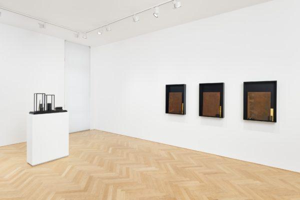 ash, needle, pencil, match; mnéma (installation view)