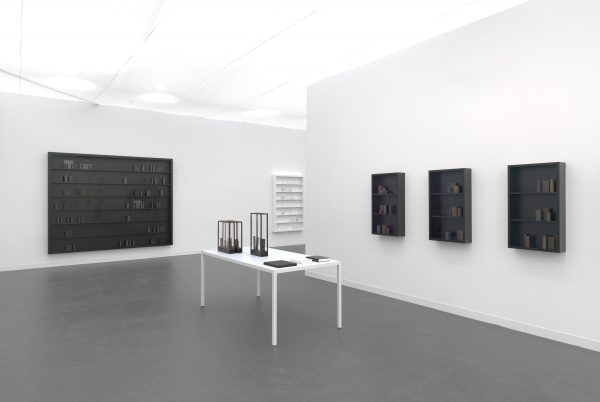 the reader, what's left, II & V, lacrimae, I-III, installation view