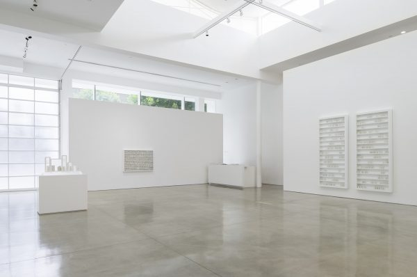 bauspiel; a lecture on the weather, Lichtzwang; installation view