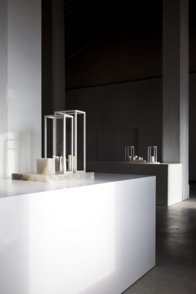 white island, I (for R.H.); white island, II (for W.B.), installation view